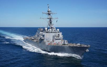 Niszczyciel rakietowy USS Fitzgerald (DDG 62) podczas prób morskich w lutym tego roku. Fot./USAF/Mas