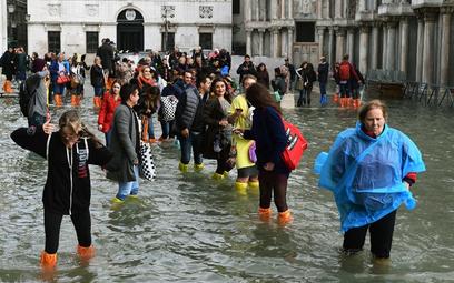 Trzy czwarte Wenecji pod wodą
