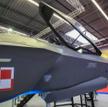 Makieta myśliwca F-35A Lightning II prezentowana podczas MSPO w Kielcach. Fot./Roman Bosiacki