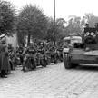 22 września 1939 r., Brześć, radzieckie i niemieckie wojska na ulicach miasta