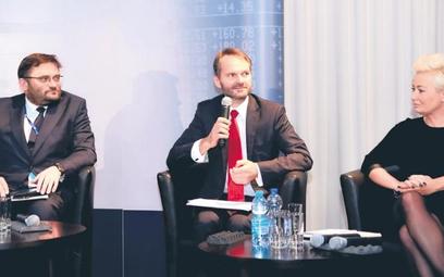 W konferencji uczestniczyli od lewej: Paweł Tamborski, prezes GPW, Piotr Piłat, dyrektor departament