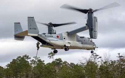 MV-22B Osprey Japońskich Sił Samoobrony podczas szkolenia w Stanach Zjednoczonych. Fot./USMC.