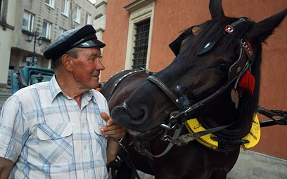 Dorożkarz Krzysztof Szczepański swoje konie traktuje jak dzieci
