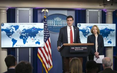Atak wirusa WannaCry wyrządził ogromne szkody. Na zdjęciu poświęcona mu konferencja w Białym Domu. W
