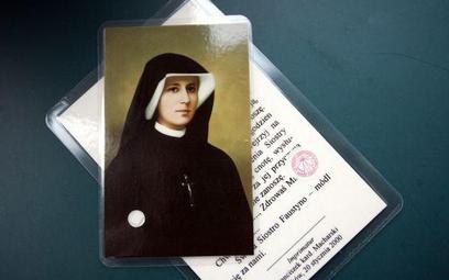 Obrazek z wizerunkiem s. Faustyny - najczęściej wymienianą świętą