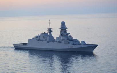 Włoska fregata rakietowa Carlo Bergamini (F590) typu FREMM. Fot./NATO.