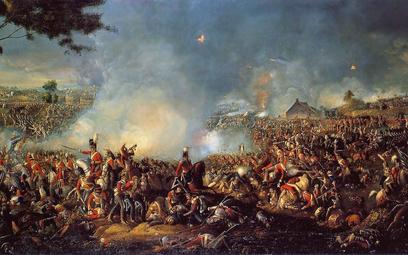 """""""Bitwa pod Waterloo"""" – William Sadler II namalował ten obraz niemal od razu po bitwie, jeszcze w cze"""