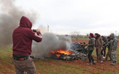 Syryjscy rebelianci zestrzelili śmigłowiec wojsk rządowych