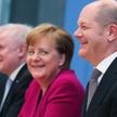 Od prawej: Olaf Scholz (SPD) - nowy minister finansów, Angela Merkel (CDU) – kanclerz niemieckiego r