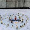 Akcje wsparcia dla Ukrainy trwają w całej Polsce. W Bydgosczy ukraińcy studenci pod pomnikiem Walki