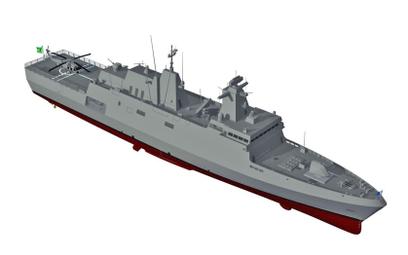 Wizja brazylijskiej fregaty  typu Tamandaré. Rys./ tkMS.