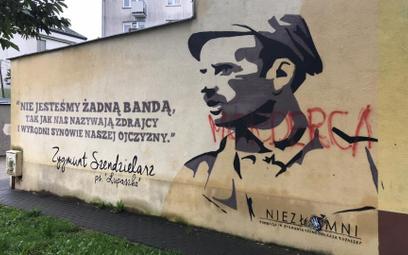 Tak wygląda teraz mural mjr Zygmunta Szendzielarza Łupaszki w Mińsku Mazowieckim