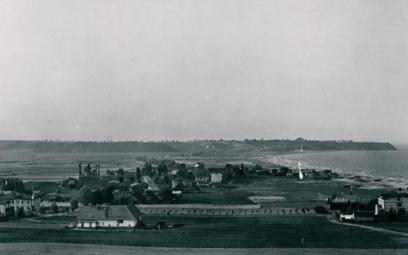 Gdynia, początek lat 20. Widok zKamiennej Góry przed rozpoczęciem budowy portu gdyńskiego