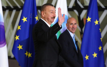 Prezydent Azerbejdżanu Ilcham Alijew w Brukseli