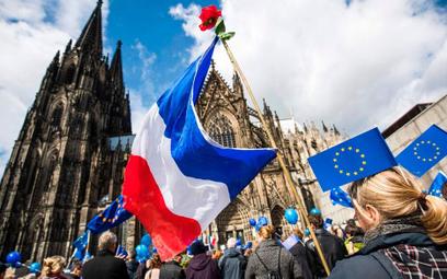 W dniu francuskich wyborów w niemieckiej Kolonii odbyła się prounijna demonstracja.