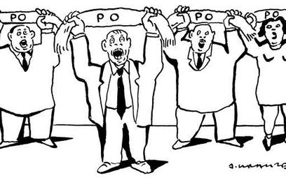 Komentarz rysunkowy. PO, PO, PO, PO...