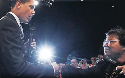 Krótka rozmowa Baracka Obamy z Henriettą Hughes stała się najważniejszą częścią jego wizyty w Fort M