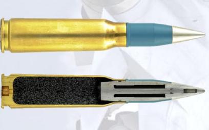 20×102 mm amunicja produkcji MESKO w wersji ćwiczebnej. Fot./MESKO.
