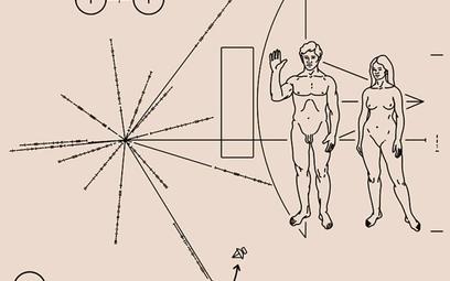 """""""Płytka Pioneera"""", czyli metalowa tabliczka, na której usiłowano zawrzeć to, co najważniejsze w skal"""