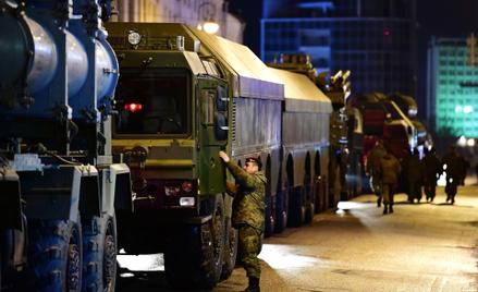 Ciężarówki z zamontowanych na nich zestawach Bastion