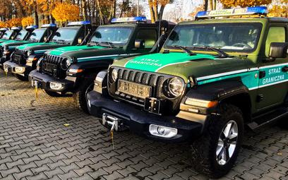 Straż Graniczna w Jeepach Wrangler Sahara