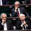 Szef Klubu PiS Ryszard Terlecki i prezes partii Jarosław Kaczyński