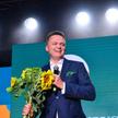 Założyciel i lider ruchu Szymon Hołownia w czasie pierwszego kongresu Polska 2050.