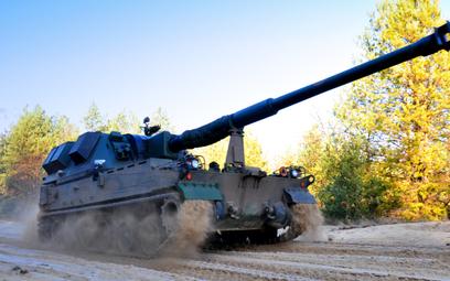 155 mm samobieżna haubica KRAB. Fot./HSW