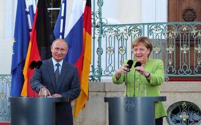 Merkel robi biznes z Putinem