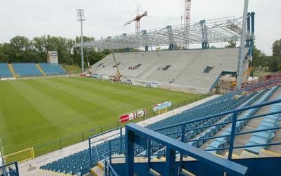 Budowa trybuny na stadionie Wisły w 2005 r.
