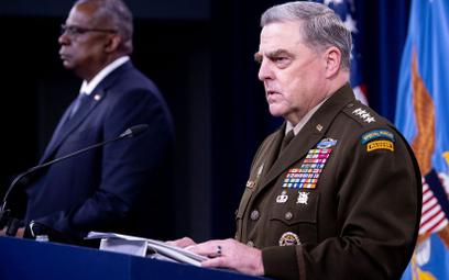 Sekretarz obrony Lloyd Austin (z lewej) i generał Mark Milley.