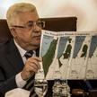 Prezydent Autonomii Palestyńskiej Mahmud Abbas na spotkaniu Ligi Państw Arabskich pokazał mapę ukazu