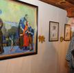 Prace Franciszka Maśluszczaka na wystawie w Płocku; fot. Piotr Dąbrowski