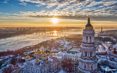 Zimowa panorama Kijowa