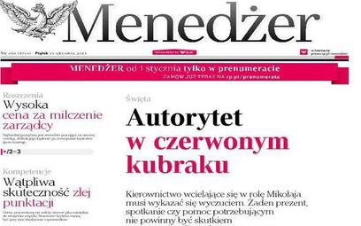 Najnowszy numer tygodnika Menedżer