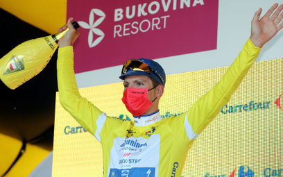 Zwycięzca 4. etapu i lider Tour de Pologne, Portugalczyk Joao Almeida z ekipy Deceuninck-Quick Step