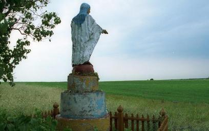Miejsce zbrodni nacjonalistów ukraińskich w miejscowości Ostrówki na Ukrainie, które chciał zbadać I