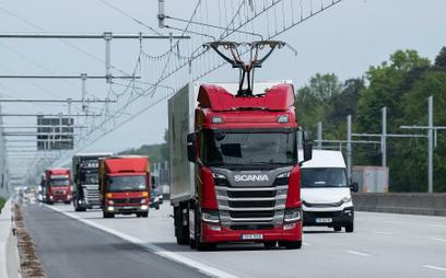 Ciężarówki z pantografem na e-autostradzie
