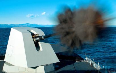 127 mm automatycznych armata okrętowa Oto Melara 127 L/64 Lightweight. Fot./Leonardo.