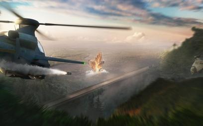 Wizja uzbrojonego śmigłowca rozpoznawczego firmy Bell zgłoszonego w programie FARA, mającym doprowad