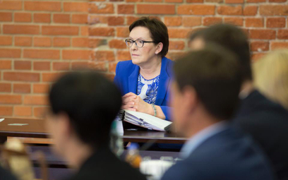 Ewa Kopacz w czasie wyjazdowego posiedzenia rządu w Łodzi