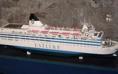 Model promu Estonia znajdujący się w muzeum morskim w Tallinnie