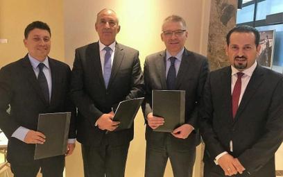 Od lewej: j Mohamed Samir, Ahmed Abdallah, Paweł Niewiadomski, Tamer Marzouk