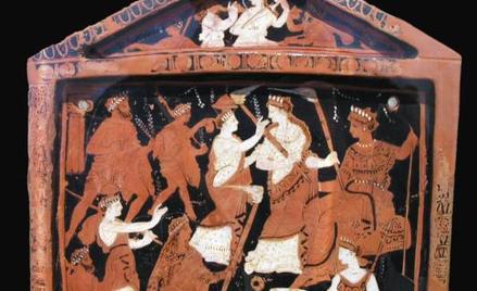 Starożytne przedstawienie misteriów eleuzyjskich (ok. 370 r. p.n.e.)