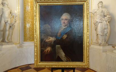 """Portret Stanisława Augusta z popiersiem Piusa VI"" Marcello Bacciarellego, 1789"