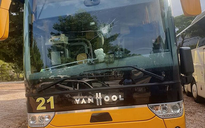 Napaść wandala na polskie autokary w Chorwacji