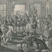 Litografia Borysa Artemjewicza Czorikowa przedstawiająca proklamowanie 22 października 1721 roku Pio
