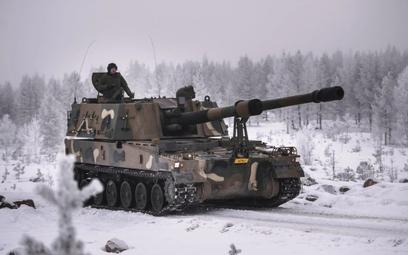 Armatohaubica K9 podczas testów w Finalndii. Fot./Ministerstwo Obrony Finlandii.