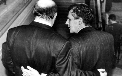 Józef Oleksy i Aleksander Kwaśniewski w Sejmie, 1993 r.
