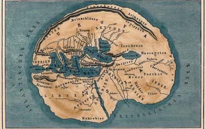 Mapa świata antycznego według Herodota